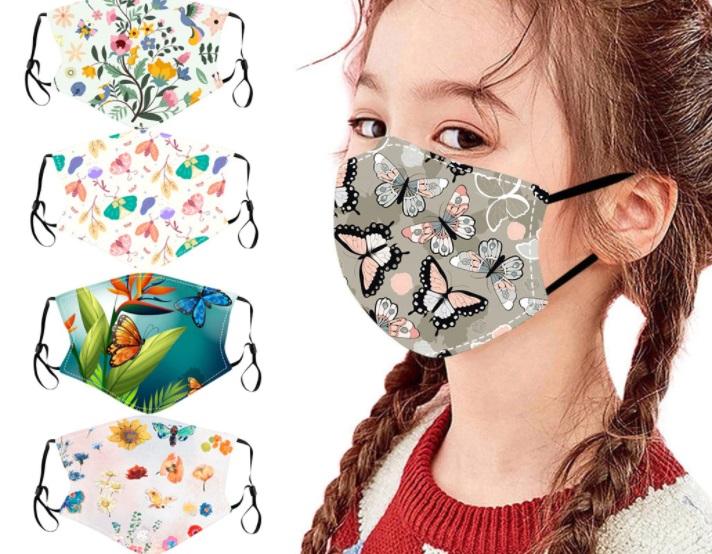 mascarilla estampada niños