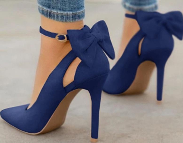 zapatos tacon lazo