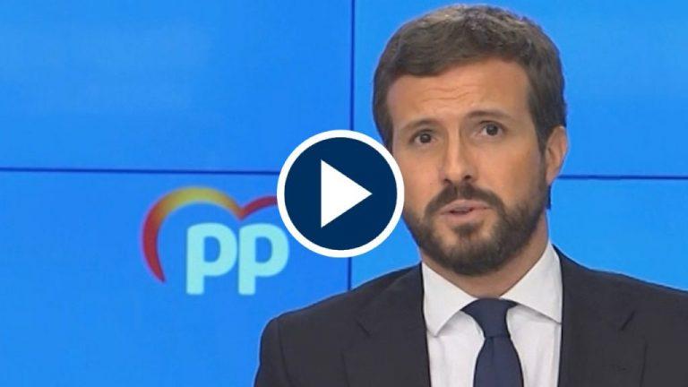Casado se niega a desvelar el voto del PP en la moción de censura de Vox