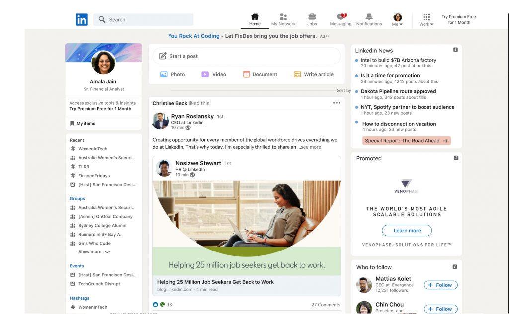 Editar o eliminar mensajes en LinkedIn