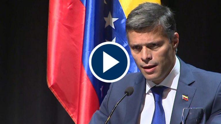 """Leopoldo López agradece la """"proactividad"""" de Pedro Sánchez"""
