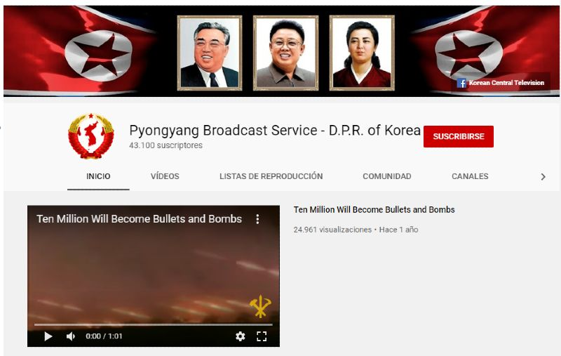 Vídeo de espías de Corea del Norte en Youtube