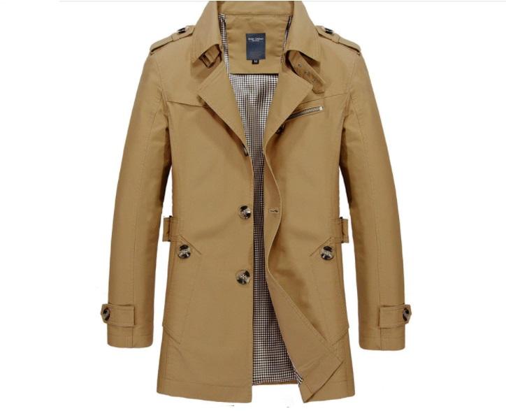 chaqueta estilo gabardina