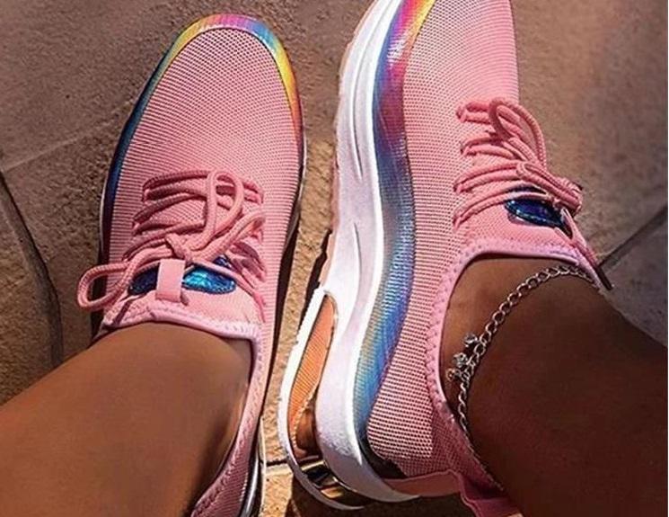 zapatillas iridiscentes