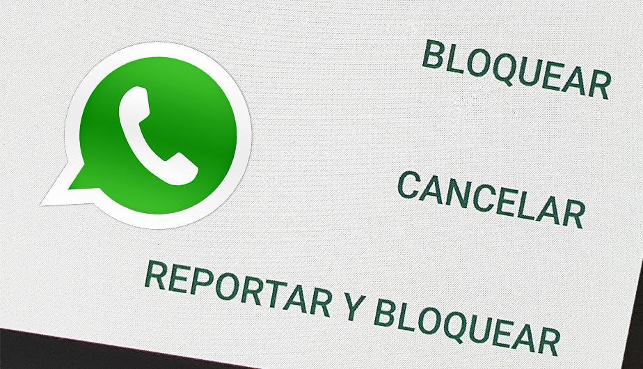Denunciar conversaciones de WhatsApp