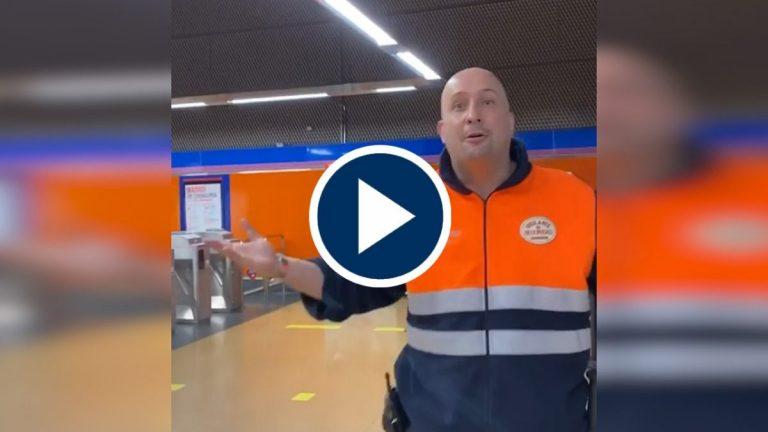El hambre con las ganas de comer: así acabó el choque entre uno sin mascarilla y un vigilante del Metro