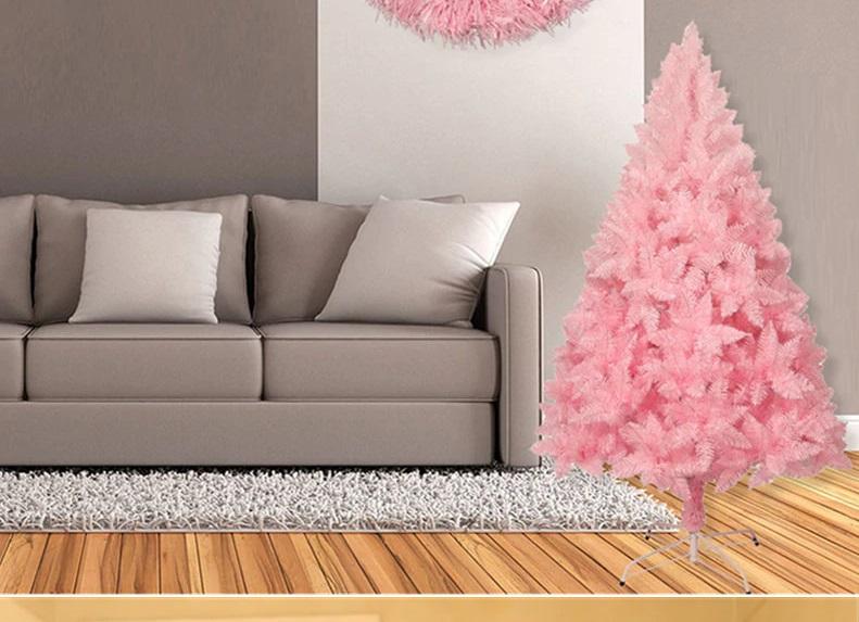 árbol navidad en rosa