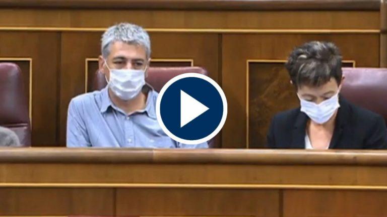 El apoyo de Bildu a los PGE centran la sesión de control al Gobierno