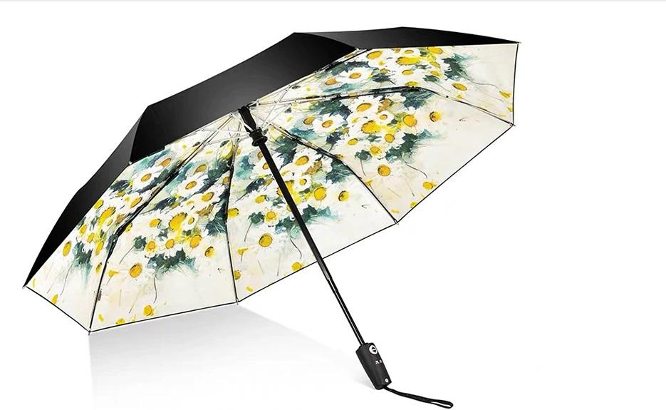 paraguas con estampado interior