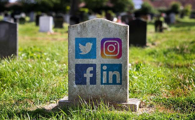Redes sociales y los fallecidos