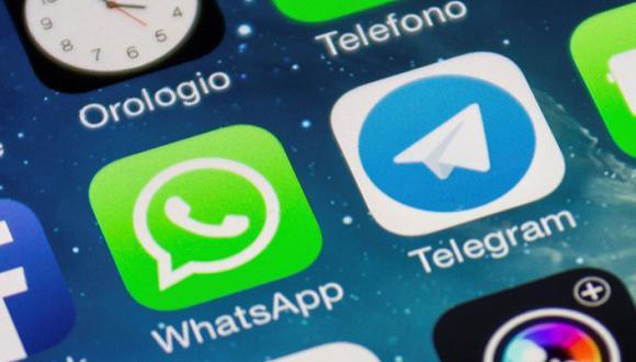 Usuarios de WhatsApp y Telegram