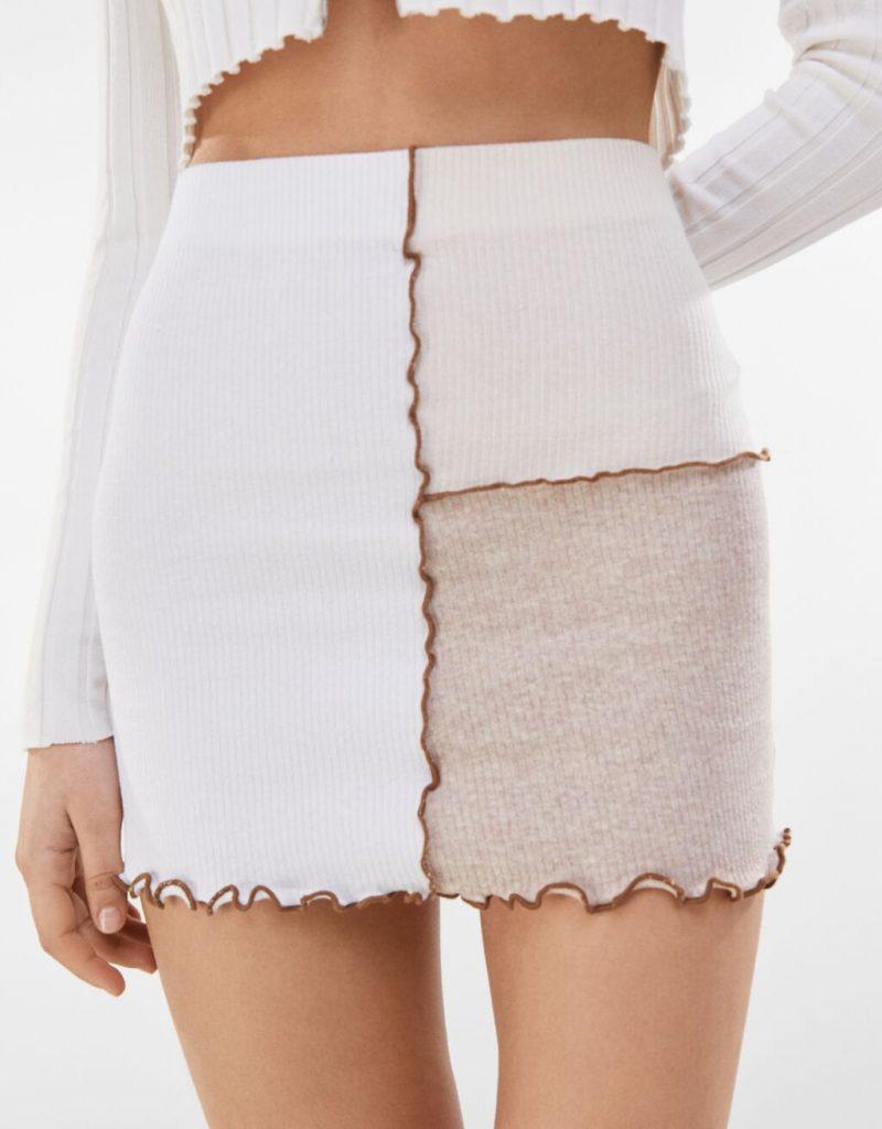Falda mini de Bershka
