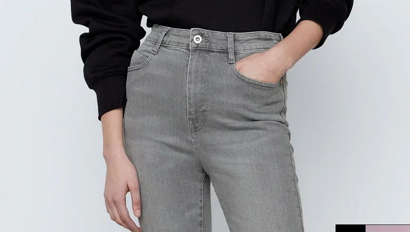 Pantalones de tiro alto en Zara