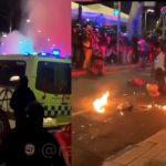 El terror se instala en Barcelona: queman un furgón policial con agentes dentro