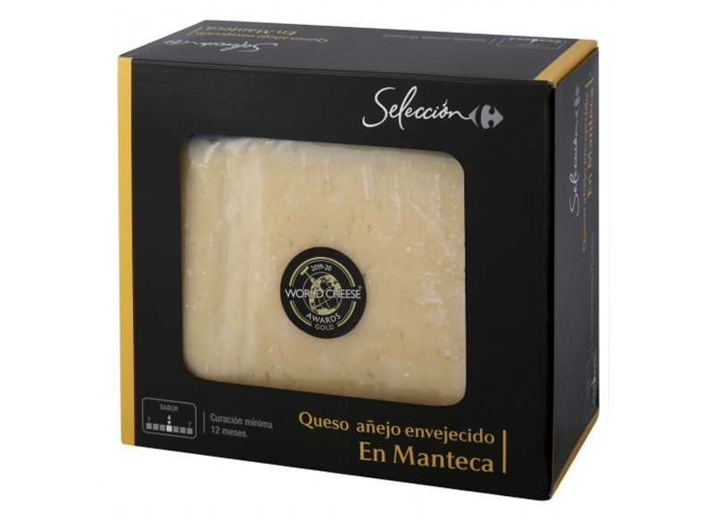 QUESO DE OVEJA ENVEJECIDO EN MANTECA CARREFOUR SELECCIÓN
