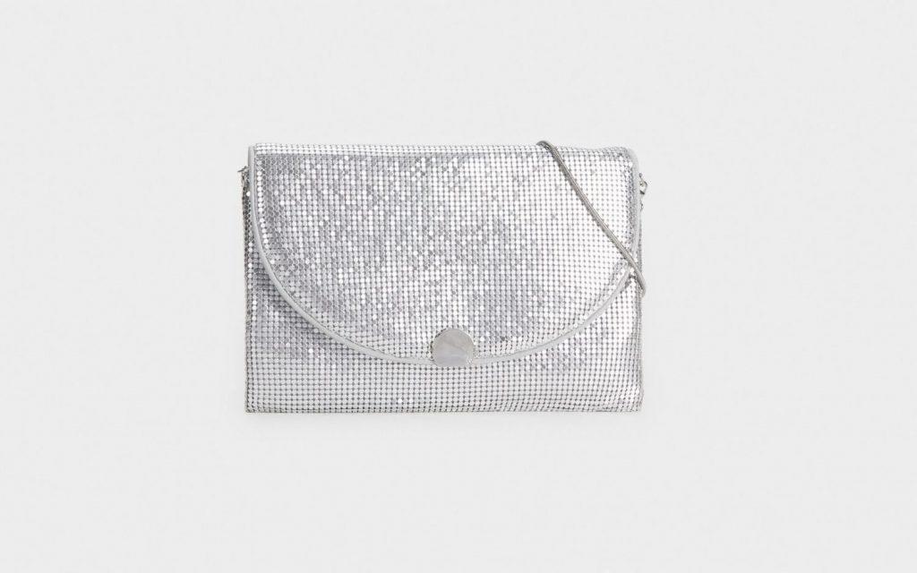 Bolso de fiesta mini mesh Parfois.