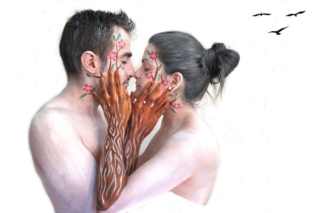 bodypainting pareja