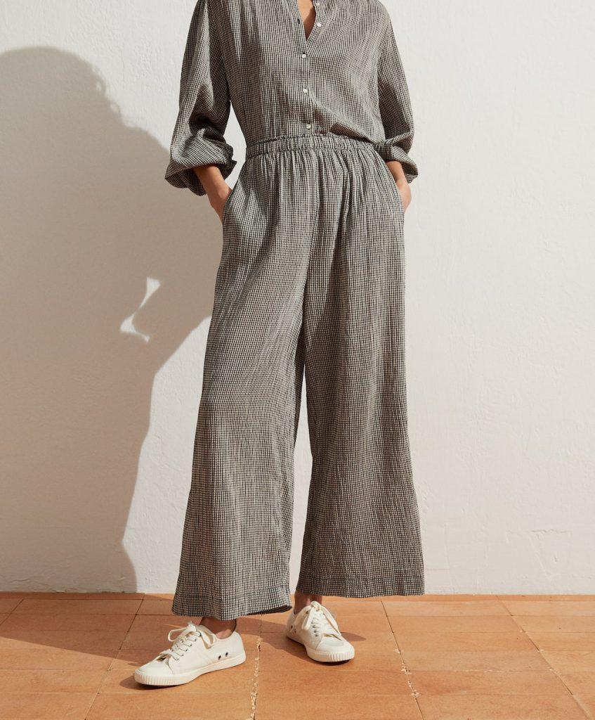 pantalon culotte vichy