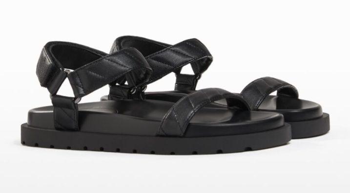 sandalia tiras negra