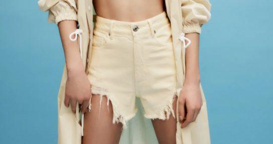 shorts asimetricos zara
