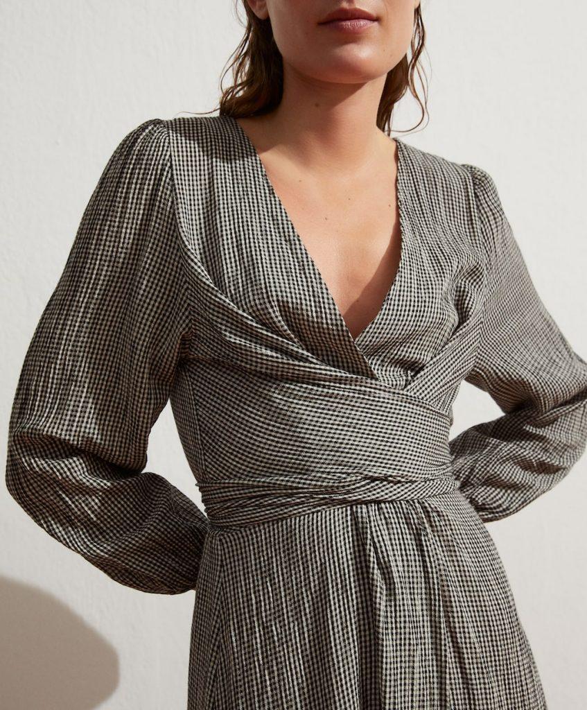 vestido vichy algodon