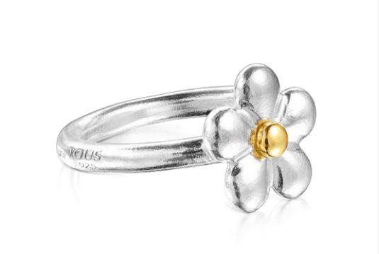 anillo bicolor tous