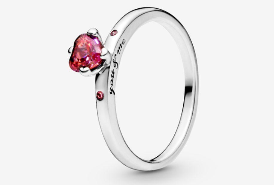 anillo plata pandora