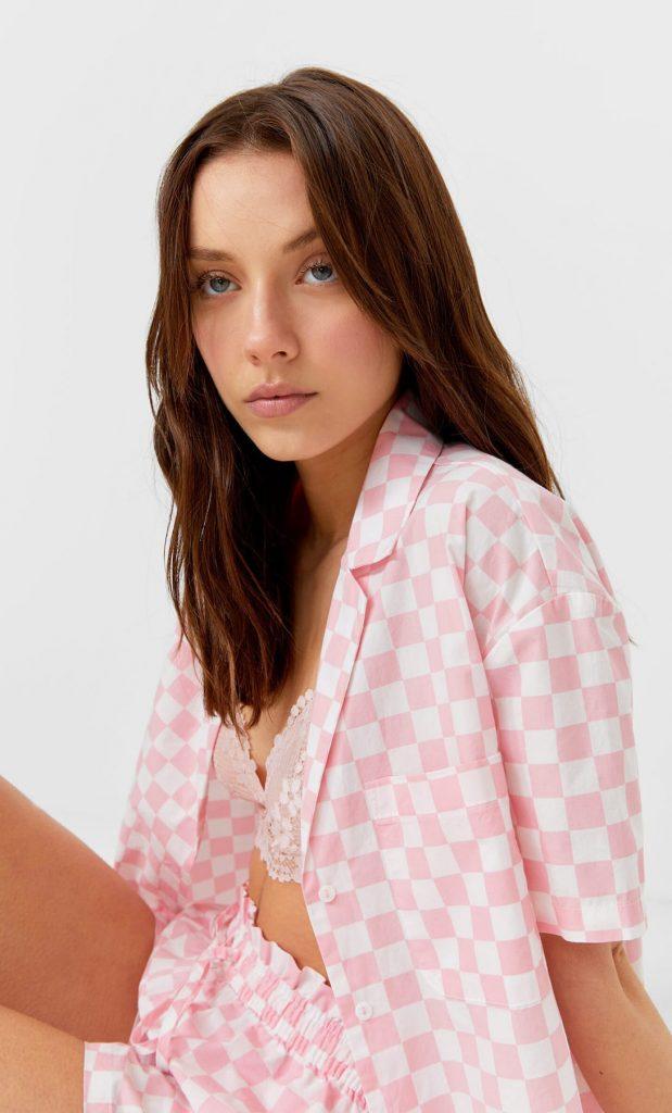 camisa corta popelin