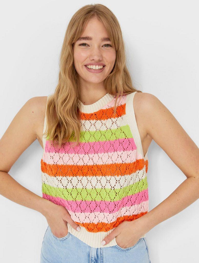 chaleco crochet rayas