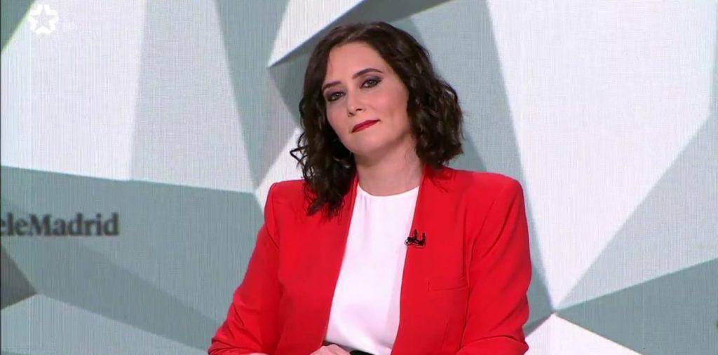 Isabel Díaz Ayuso, candidata del PP