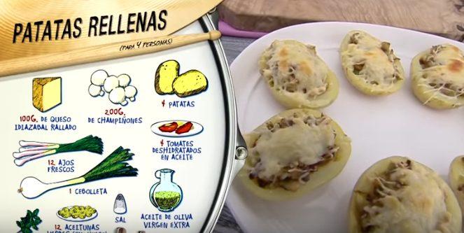 Ingredientes de las patatas rellenas