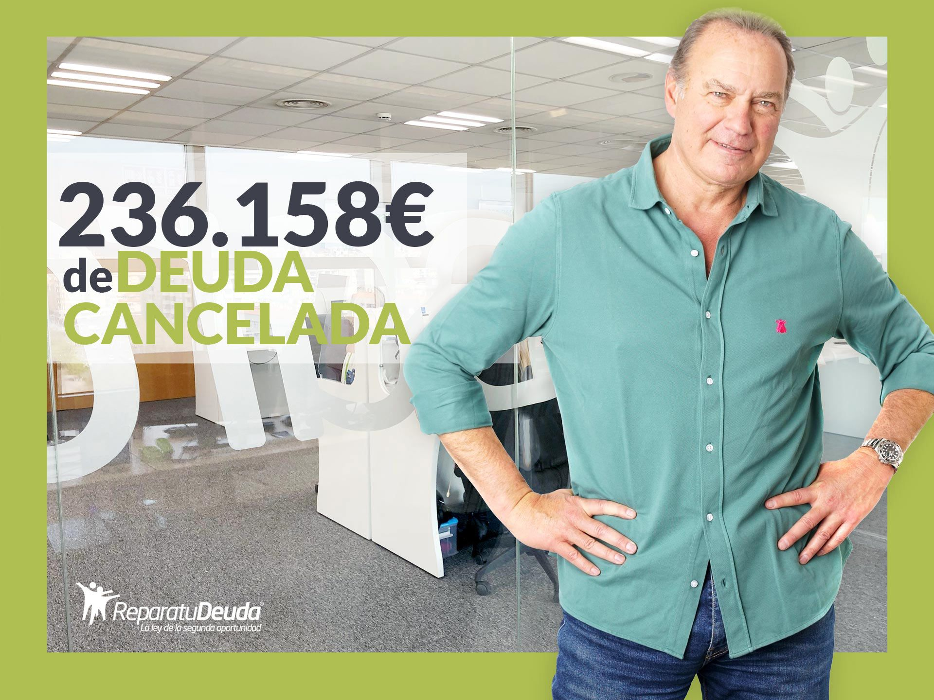 Repara tu Deuda Abogados cancela 236.158 ? en Bilbao (Vizcaya) con la Ley de Segunda Oportunidad
