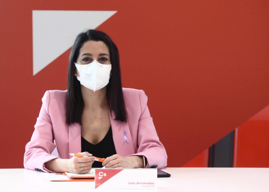 Inés Arrimadas, líder de Ciudadanos se mantiene en su puesto