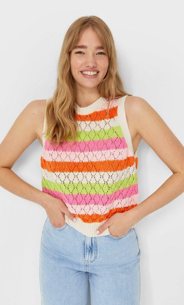 Chaleco crochet   stradivarius