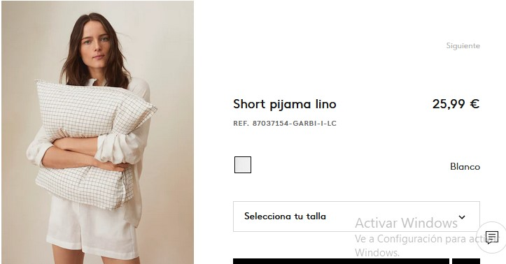 Short pijama lino- Mango