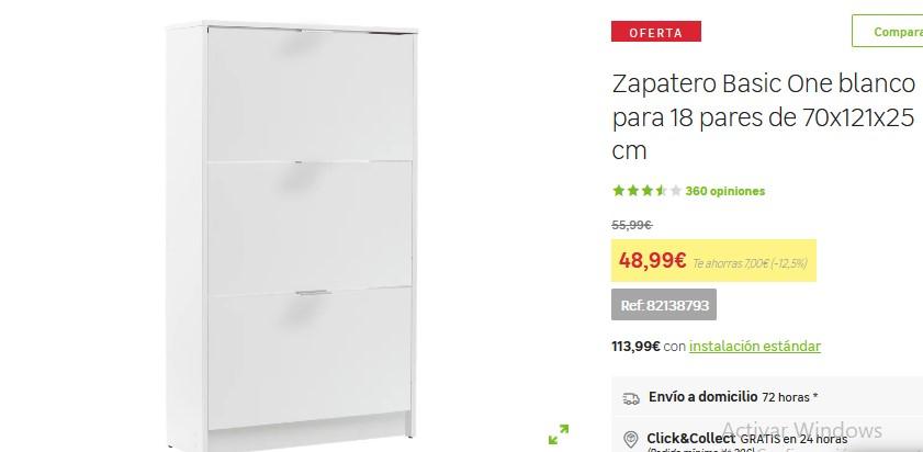 Zapatero Basic One blanco- Leroy Merlín