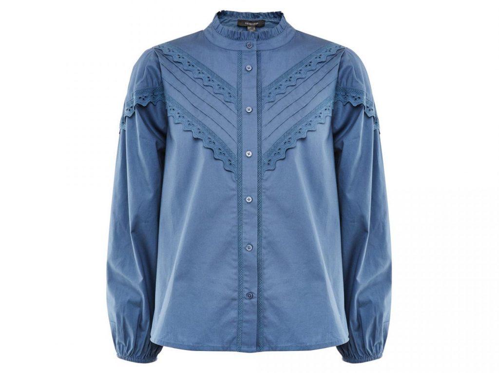 camisa azul victoriana