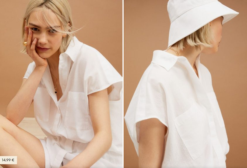 Camisa sin mangas en popelina H&M