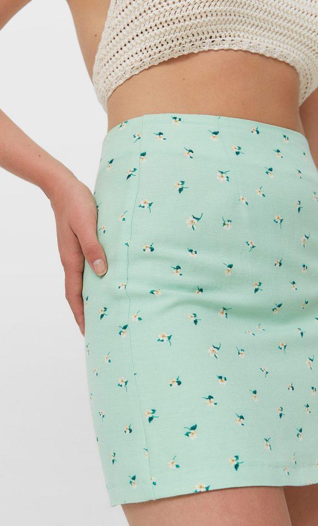 falda mini stradivarius