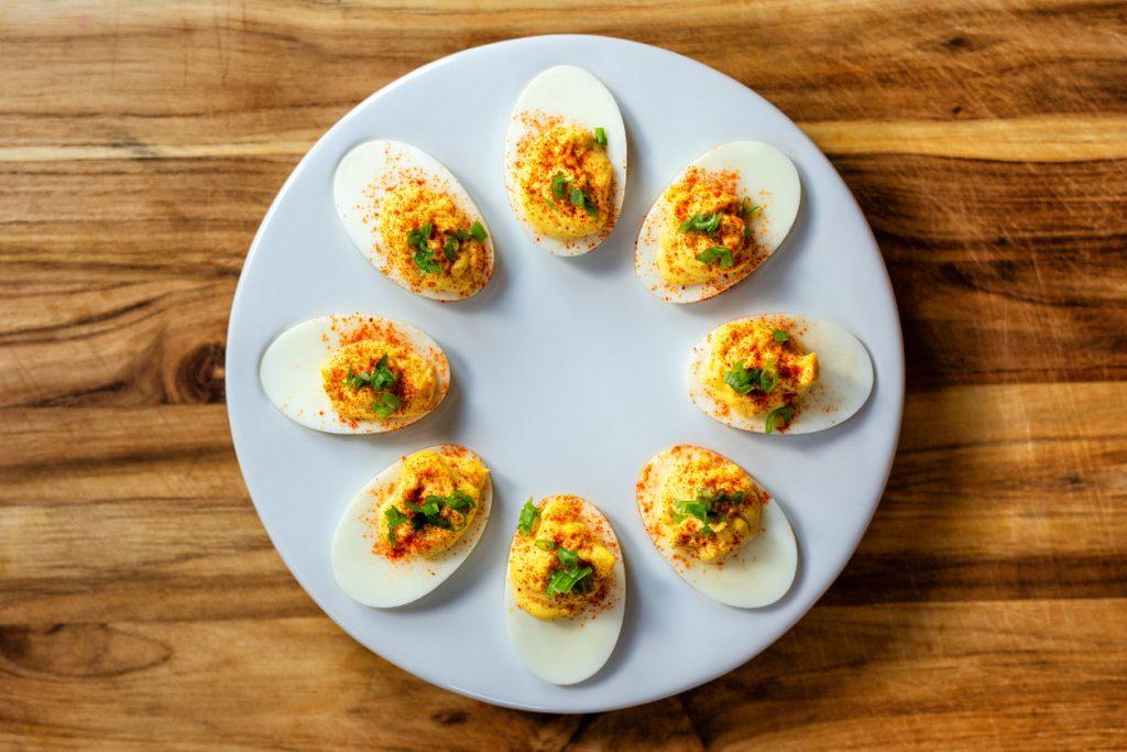 huevos rellenos ingredientes arguinano