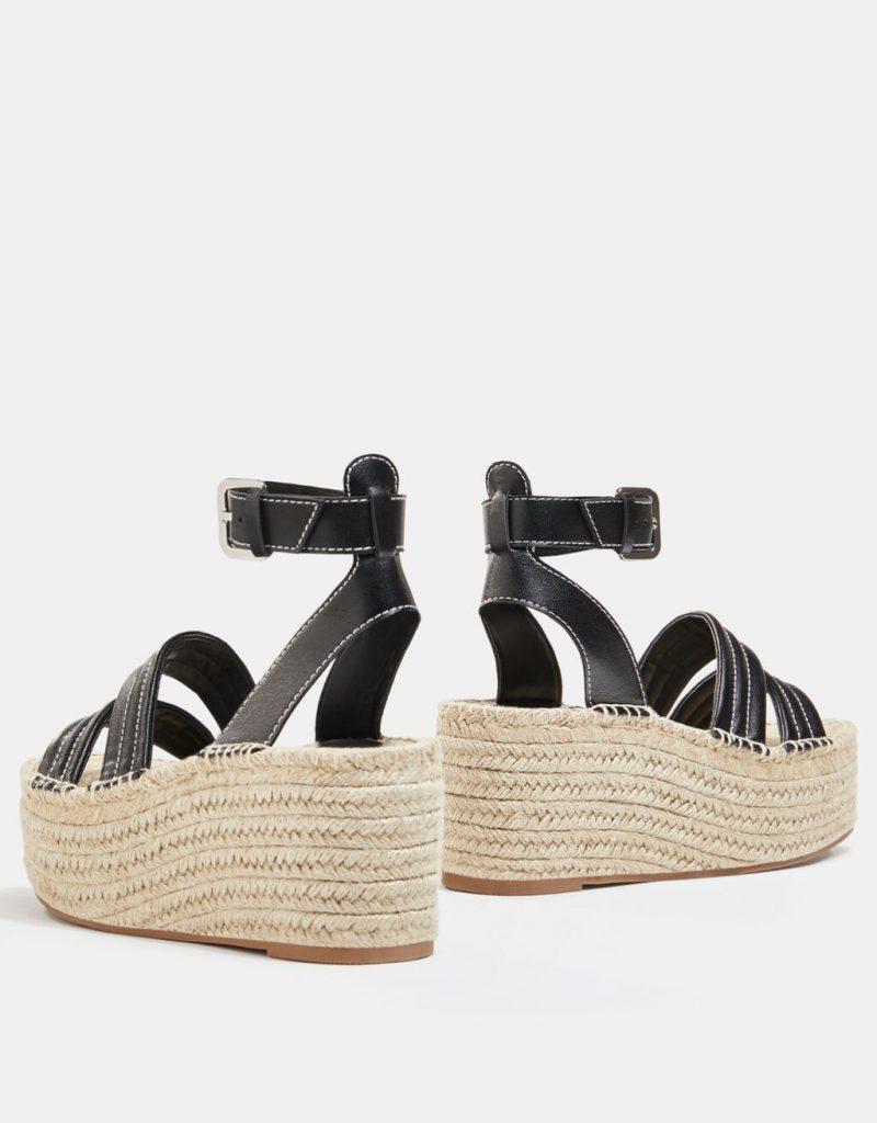 sandalia pespuntes bershka