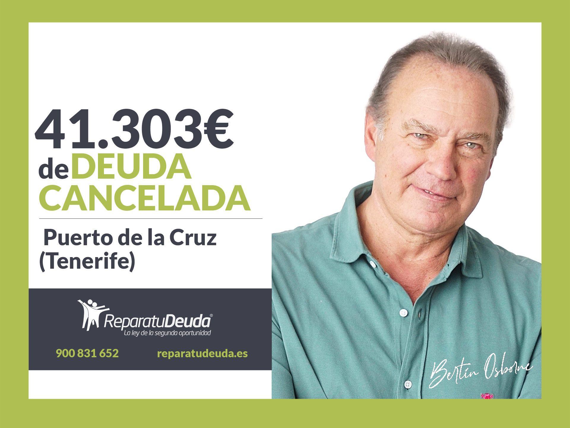 Repara tu Deuda Abogados cancela 41.303 ? en Tenerife con la Ley de la Segunda Oportunidad