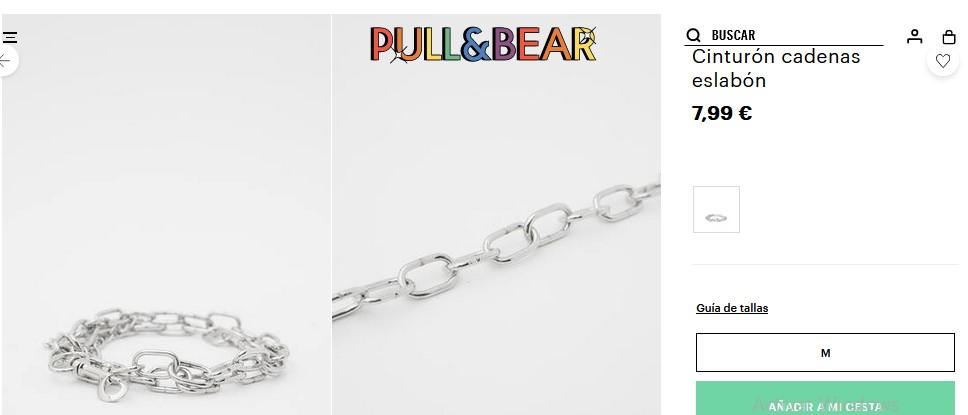 Cinturón cadenas eslabón- Pull&Bear