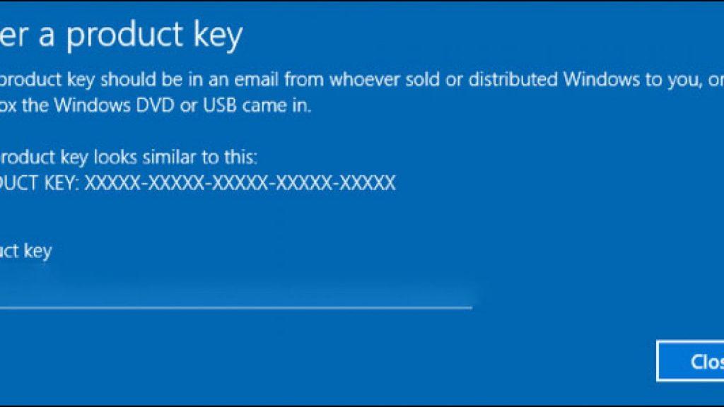 Claves genéricas de Windows 10