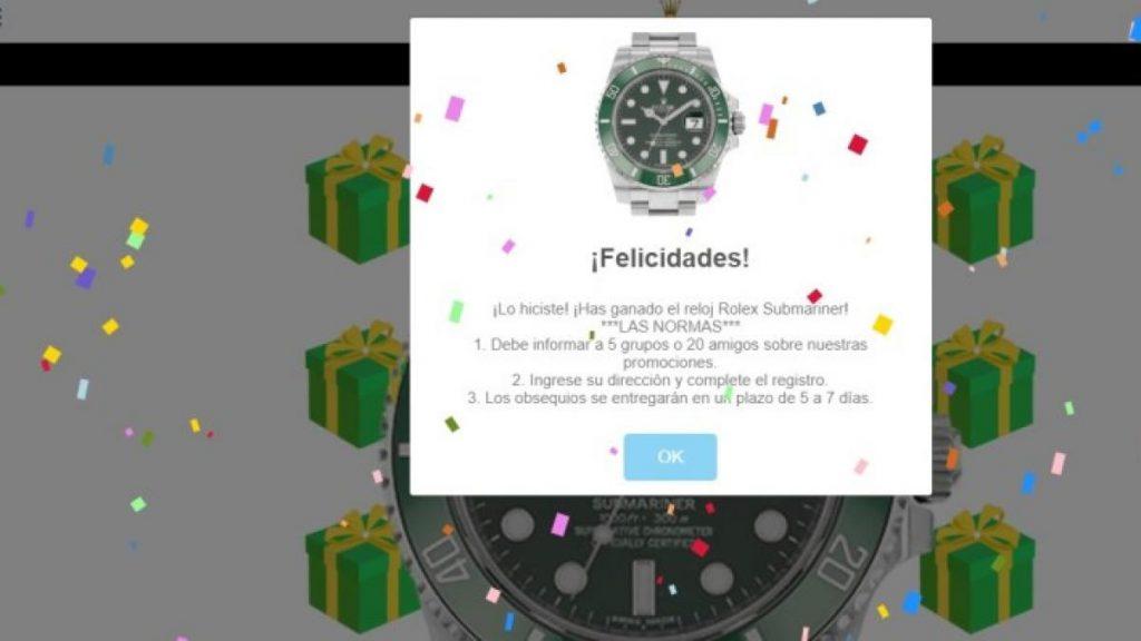 Estafa del  Rolex Whatsaap