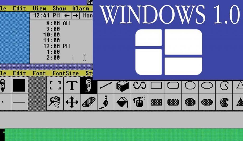 La primera versión de Windows