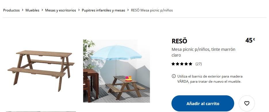 Mesa picnic- Ikea