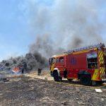 La Cañada Real se quema a diario y los bomberos de hartan del fuego y de Carabante