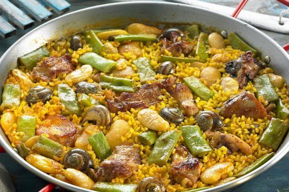 La paella valenciana