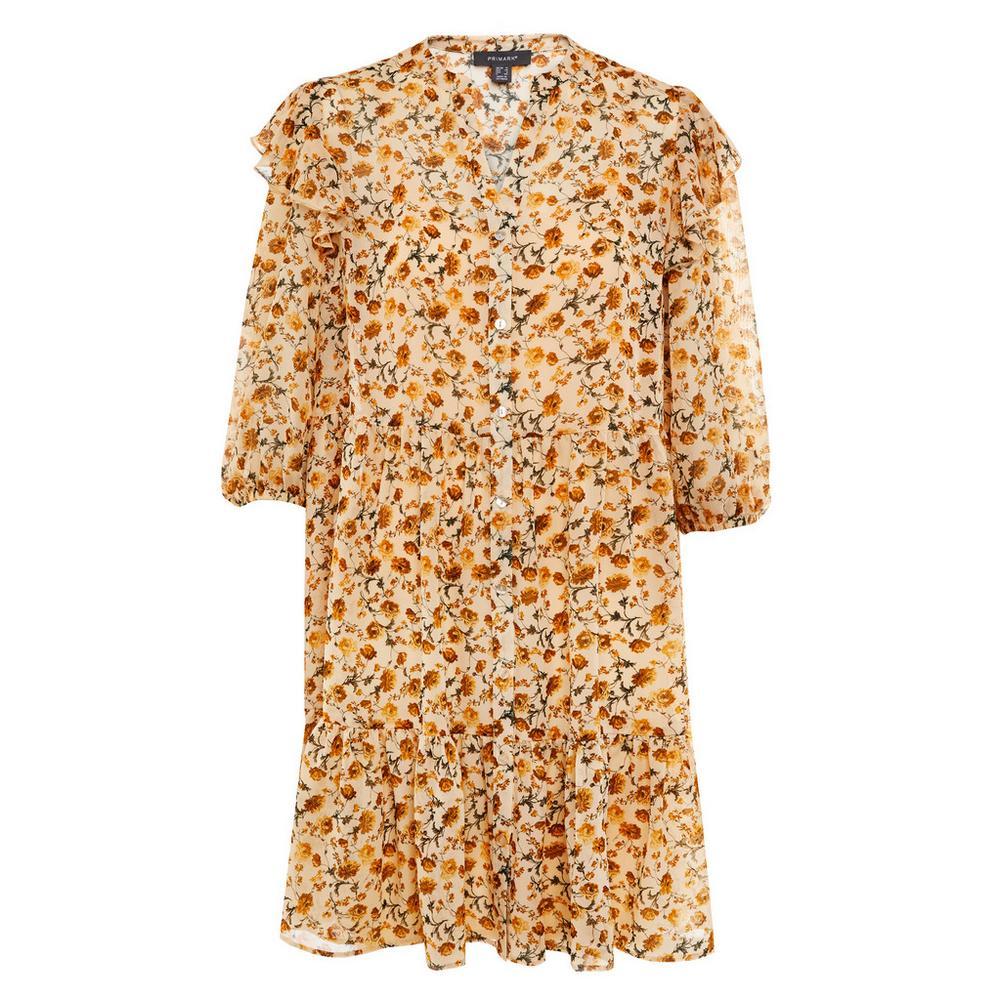 Vestido corto de gasa con estampado de Primark